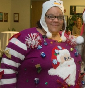Cynthia - Ugly Holiday Sweater Contest Winner - MA Office